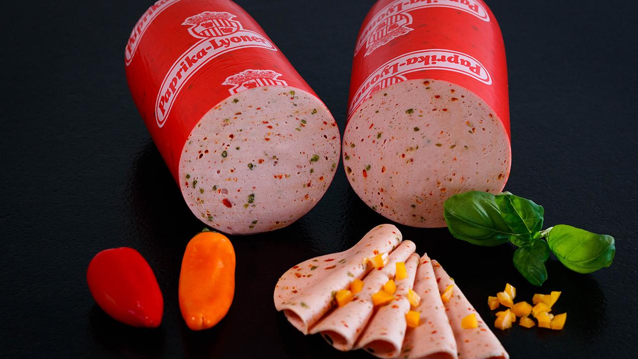 Frischwurstaufschnitt Paprikawurst fein
