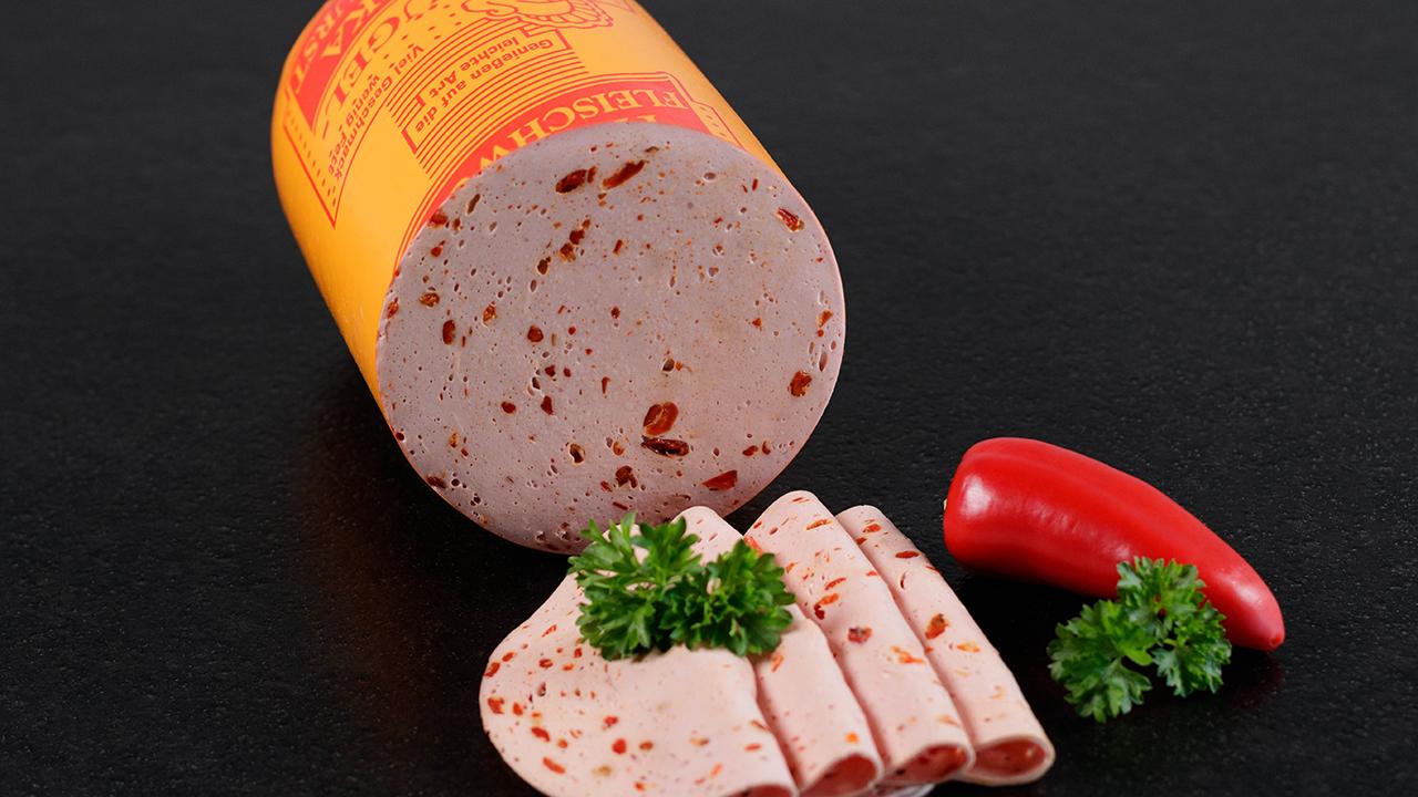 Frischwurstaufschnitt Putenpaprikafleischwurst