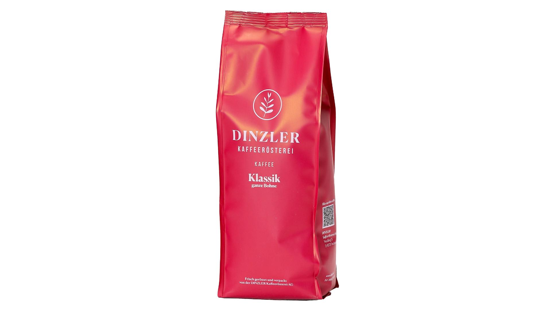 DINZLER Kaffee Klassik (ganze Bohnen) - 1.000 g Beutel
