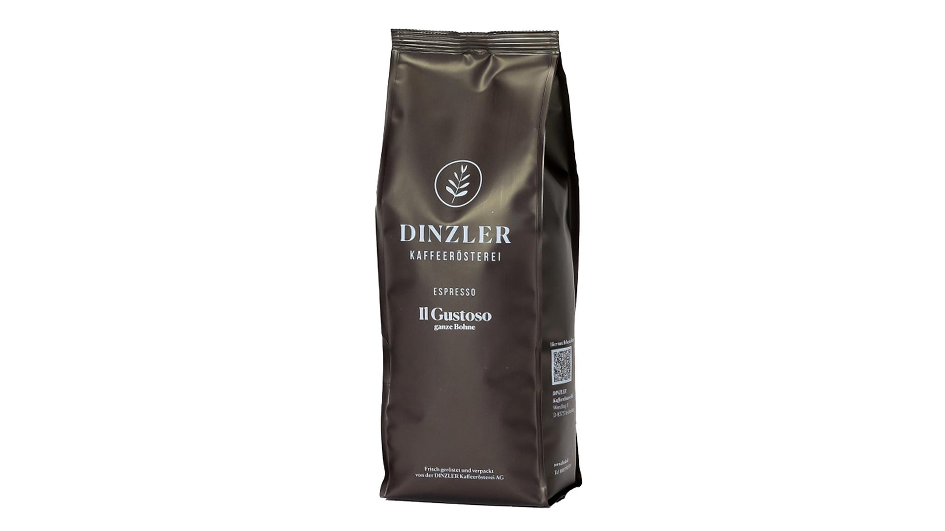 DINZLER Espresso IL Gustoso (ganze Bohne) - 1.000g Beutel